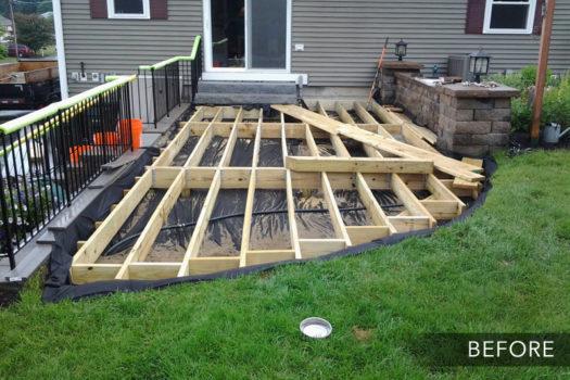 Ground Level Deck - Before